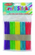 Charles Leonard Craft Sticks - Regular Size - Coloured - 11cm x 1cm - 150/Bag, 66580
