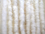 10 PCS Thin Marabou Feather Boa 2 Yards Long (180cm ) 15 Grammes - WHITE