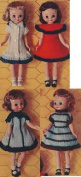 Vintage Knitting PATTERN to make - Betsy McCall Doll Clothes 20cm . NOT a finished item. This is a pattern and/or instructions to make the item only.