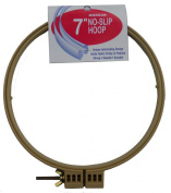 18cm No-Slip Embroidery Hoop, Interlocking Tongue and Groove Design
