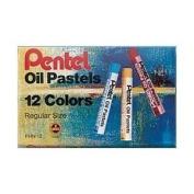 Pentel Arts Oil Pastels, 12 Colour Set