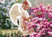 Greek Art Paintworks Paint Colour By Number Kits,Angel Lovingly,41cm by 50cm