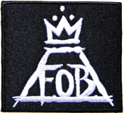 FOB FALL OUT BOY Heavy Metal Rock n Roll Punk Band Logo Music Patch Sew Iron on Embroidered Badge Sign Costume Gift