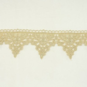 Gold metallic lace trim metallic ribbon trim by the yard for fabric Millinery accent motif scrapbooking card making lace decoration baby headband hair accessories dress accessories Bridal beaded trim by Annielov trim #274