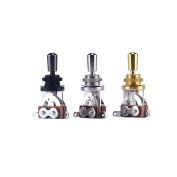 3 Colours Electric Guitar 3 Way Toggle Switch Pickup Selector Switch with Brass Tip Knob