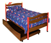 Room Magic Twin Bed, Star Rocket Chocolate