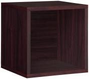 Way Basics Stackable Storage Cube (perfect for Record Album Storage), Espresso