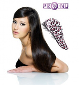 Detangling Brush By Pro-Nu® - Detangling Brush Works As a Detangler for Thick, Thin, Curly, Fine, Natural, Colour Treated, Damaged, Wet or Dry Hair - No More Tangle - Adults & Kids - Gentle As a Comb - Pink and Black Colour - 100% SATISFICATION  ..