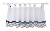 My Baby Sam Out of The Blue Curtain Valance, Navy/Grey