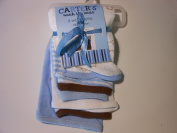 Carter's Watch the Wear Baby Washcloths 6 Pack Blue Patterns