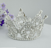 "Sunshinesmile Bridal Wedding Vintage Style Pageant Tall 4. ""Tiara Full Circle Round Crystal Crown"