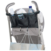 Trolleys,Trolley Bag Shoulder Strap & Nappy Wipes Pocket for Umbrella Strollers - Universal Bag with Double Insulated Cup Holders and Back Zipper Pocket for Accessories,with Two Metal Hooks.by Wotvo