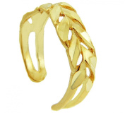 Diamand Cut Yellow gold Toe Ring