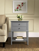 Altra Furniture Franklin Accent Table with Two Drawers, Grey