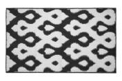 Jean Pierre Caravello Textured Decorative Accent Rug, 70cm x 120cm Black/White