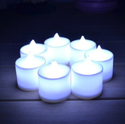 Domire Pack of 12 LED Electronic Candle Tealights for Wedding Party Club Decor,Warm White
