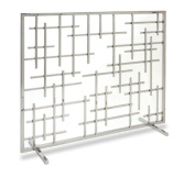 Pilgrim 18267 Home and Hearth Contemporary Fireplace Summer Screen, Polished Nickel