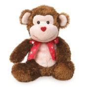 Boyds Bears Valentine's Day Plush Love Buddies - Smooches Monkey - 15cm