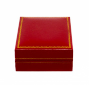 Novel Box® Jewellery Pendant Box in Red Leather (Carter Collection) + Custom NB Pouch