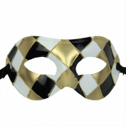 NATI Men's Masquerade Mask Fancy Dress Colour Black Gold