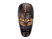 Hand Carved African Tribal Wooden Mask, Protector, 20cm