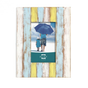 Prinz Shorelines Washed Wood Frame, 10cm by 15cm , Multi-Colour
