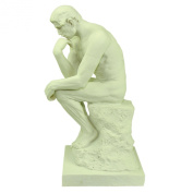 Souvenirs of France - 'The Thinker', Statue of Rodin - Height : 15cm - White