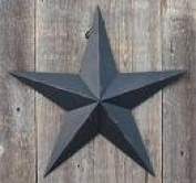 100cm Rustic Black Barn Star Made with Galvanised Metal to Prevent Rusting. Amish Hand Made Your Source for Heavy Duty Metal Tin Barn Stars and Primitive Style Stars for Your Country Crafts and Home and Garden Decor. American Handcrafted - Made in th ..