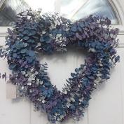 Frozen Love Heart Shaped Eucalyptus Wreath 43cm