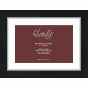Craig Frames 20cm by 28cm Black Picture Frame, Single White Mat with 1 - 15cm by 23cm Opening