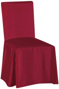 SALLY TEXTILES Jenny Chair Cover, Burgundy