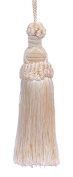 Decorative 14cm Key Tassel, Ivory, Sand Imperial II Collection Style# KTIC Colour