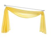 Uphome 1pc Elegant Solid Pattern Window Voile Scraft Valance - Sheer Window Curtain 150cm W x 550cm L,Yellow