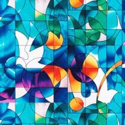Dove Stained Glass Decorative Window Film 90cm Wide x 70cm Long