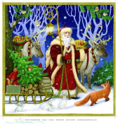 Advent Calendar - Father Christmas - Jumbo Size Calendar