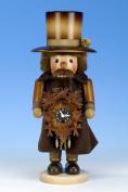 Natural Wood Finish Clockmaker Nutcracker