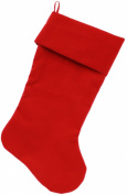 Mirage Pet Products Plain Velvet 46cm Christmas Stocking Red
