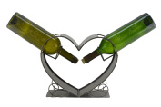 Two of a Kind Heart Metal Wine Bottle Holder by WineBodies