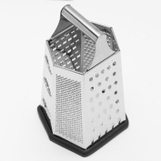 Cook's Corner 23cm Stainless Steel Hex Grater W/ Non-Skid Base