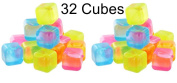 Reusable Plastic Ice Cubes - Colours May Vary