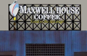4181 Model Maxwell House Coffee Animated Lighted Billboard Sign by Miller Signs