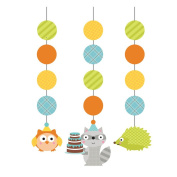 Pack of 18 Happi Woodland Boy Printed Hanging Cutout Party Decorations 90cm