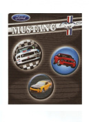 Ford Mustand Fabric Book Cover