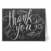 Handlettered Thank You - 36 Chalkboard Thank You Note Cards For $9.99 - Blank Cards - Kraft Envelopes Included