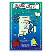 RHODE ISLAND STATE MAP postcard set of 20 identical postcards. Post cards Made in USA.