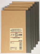 MUJI Notebook A6 6mm Ruled 30sheets - Pack of 5books
