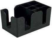 6-Compartment Counter-Top Bar Caddy, Barware Caddy, Bar Caddy Napkin Dispenser, Straw Organiser, Set of 6