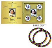 Shahnaz Husain Gold Facial Kit (Mini) - 40g - with FREE GIFT (Pair of Multicolor Bangles) and.