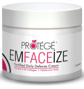 Moisturiser Cream - EmFACEize - Anti-Ageing Day Cream with Antioxidant Protection + Firms Skin + Reduces Wrinkles and Fine Lines + Fortified with Collagen + Vitamin E + Hyaluronic Acid + Almond Oil