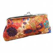 Embroidery Flower Women's Clutch Handbag Coin Purse Useful Hasp Pouch Wallet Money Bag